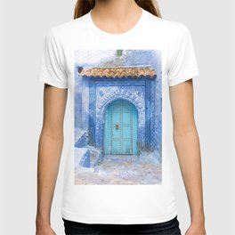Doorways - Morocco - Chefchaouen The Blue City 19 T-shirt