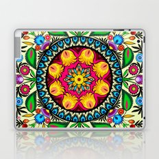 folk flowers collage Laptop & iPad Skin