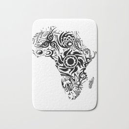 African Psychedelic Bath Mat