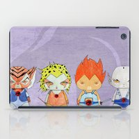 thundercats iPad Cases featuring A Boy - A Girl - Thundercats by Christophe Chiozzi