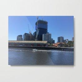 Melbourne City And Yarra River Metal Print