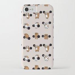 OLYMPIC LIFTING English Bulldog iPhone Case