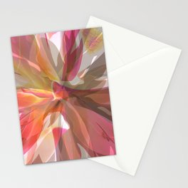 Coral Spiral Geometric Petals Stationery Cards