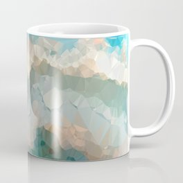 Turquoise Copper Agate Low Poly Geometric Triangles Coffee Mug