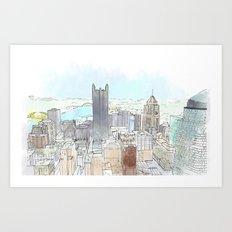 Dahntahn Pittsburgh Art Print