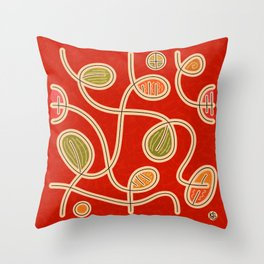 Scribbles & Loops (pattern) Throw Pillow