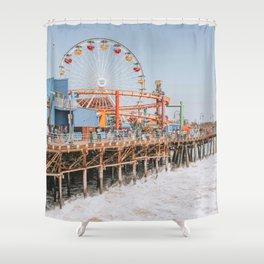 santa monica iii / california Shower Curtain