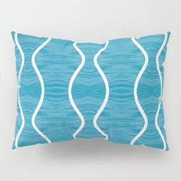 Kailua curves on ink blue pattern Pillow Sham