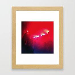 Red Music Framed Art Print