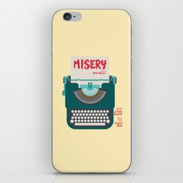 Misery, Horror, Movie Illustration, Stephen King, Kathy Bates, Rob Reiner, Classic book, cover iPhone Skin