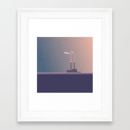 Poolbeg Dublin Framed Art Print