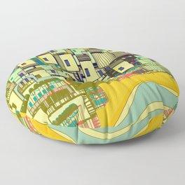 Mediterranean Coast Floor Pillow