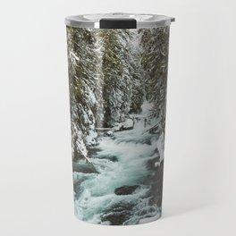 The Wild McKenzie River Portrait - Nature Photography Travel Mug