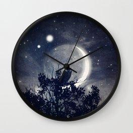 A Night With Venus and Jupiter Wall Clock