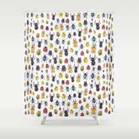 bugs Shower Curtains featuring Bugs by Marina Eiro