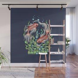 Golden Fish 3 Wall Mural