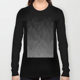 Sombre ombre black flames gradient Long Sleeve T-shirt