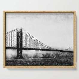 Golden Gate Bridge Serving Tray