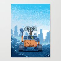 wall e Canvas Prints featuring Wall-e by LAckas