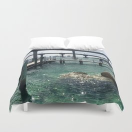 Dockin' at Sea Duvet Cover