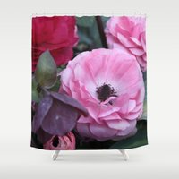 coasters Shower Curtains featuring The Softest Pink by H. N.