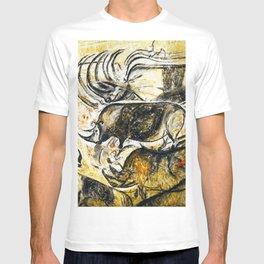 Panel of Rhinos // Chauvet Cave T-shirt