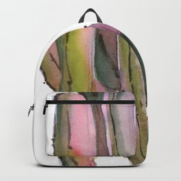 Cactuses in green and pink Backpack