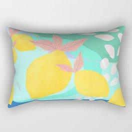 Pink Lemonade - Shapes and Layers no.32 Rectangular Pillow