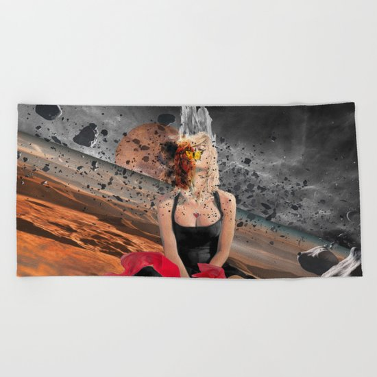 Meteor Girl Beach Towel