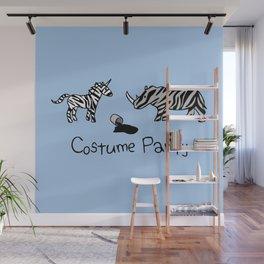 Costume Party (Zebra Unicorn and Rhino) Wall Mural