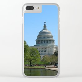 Capitol View With Reflection Pool Washington DC Clear iPhone Case