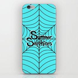 Bright Blue Spiderweb Logo iPhone Skin