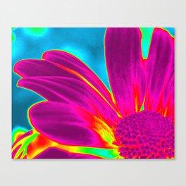 Flower | Flowers | Neon Daisy Canvas Print