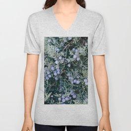 Botanical Gardens - Evergreen #335 Unisex V-Neck