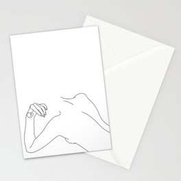 Nude figure line drawing - Bess Stationery Cards