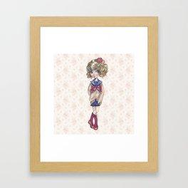 JAPANESSE DOLL ILLUSTRATION BY ALBERTO RODRÍGUEZ Framed Art Print