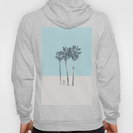 Palm trees on a solitary beach Hoody