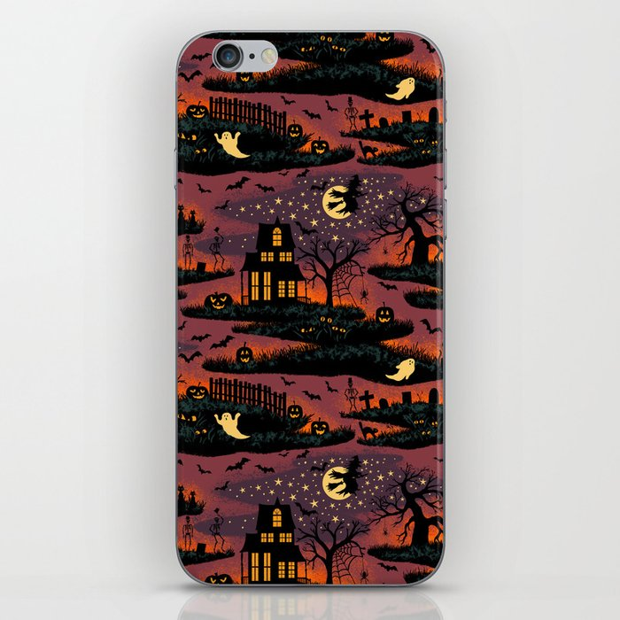 Halloween Night - Bonfire Glow iPhone Skin