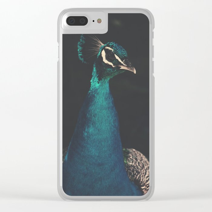 peacock and proud Clear iPhone Case