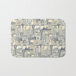 Seattle indigo cream Bath Mat