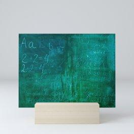 Chalk school blackboard Mini Art Print