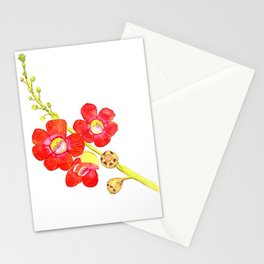 Cannonball tree flower Stationery Cards