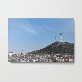 Namsan Tower Metal Print