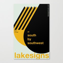 Lakesigns Poster - SXSW 2012 (2 of 4) Canvas Print