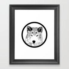 Hippie Wolf Framed Art Print