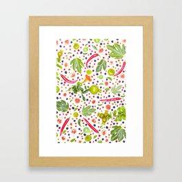 Fruits and vegetables pattern (7) Framed Art Print