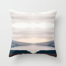 quiet lake nature abstract photography Throw Pillow