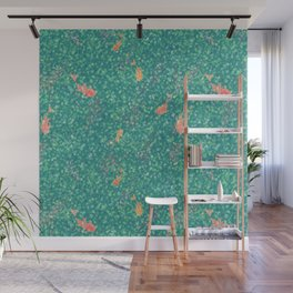 Koi Pond in Dappled Light Wall Mural