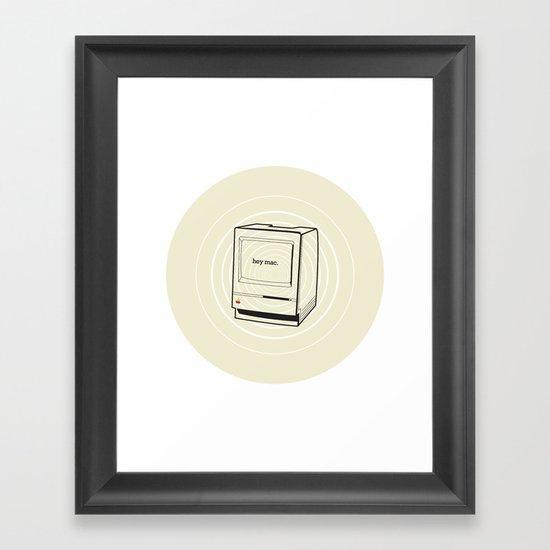 mac Framed Art Print