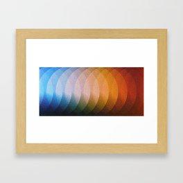 Circle Blend Colors Framed Art Print